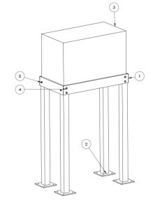 Bolt together steel or aluminum whole house generator stand